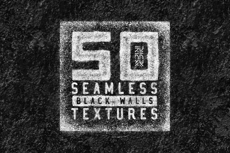 50 Seamless Black Walls Textures