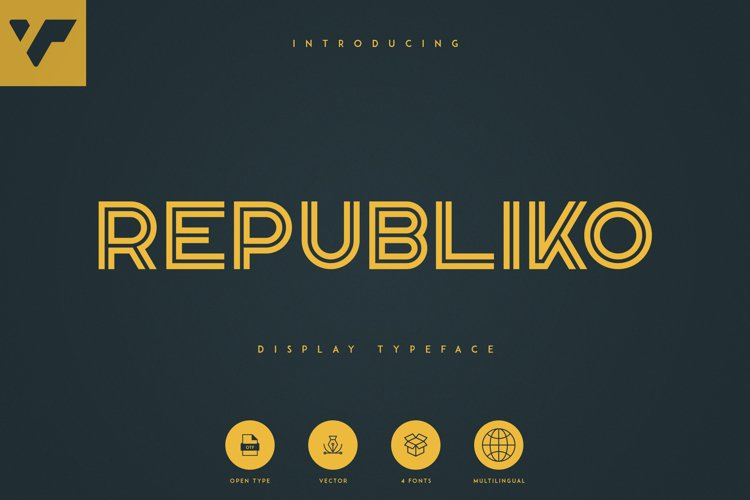 Republiko - Display Typeface example image 1
