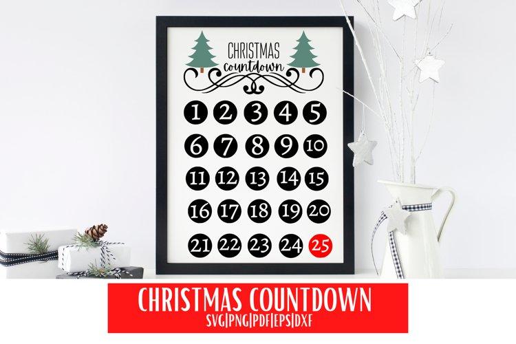 Christmas Countdown SVG | Christmas Countdown Calendar SVG example image 1