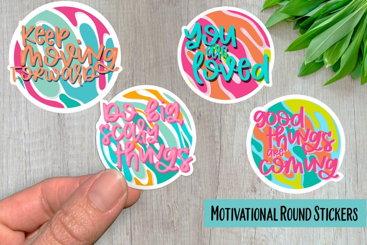 Motivational Rounds PNG Sticker Pack example image 1