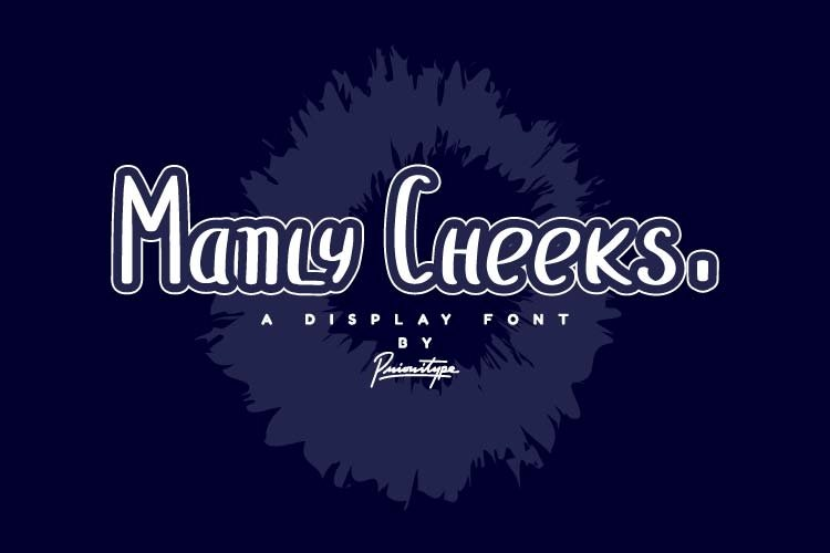 Manly Cheeks - Display Font example image 1