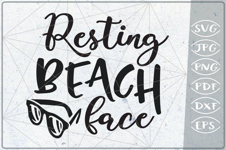 Resting Beach Face Svg Cutting File Summer Svg Cutting Fil 263862 Cut Files Design Bundles
