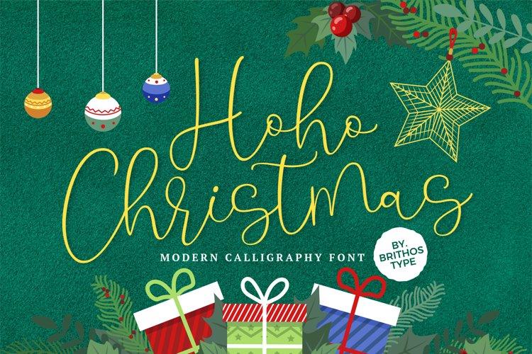 Hoho Christmas Modern Font example image 1