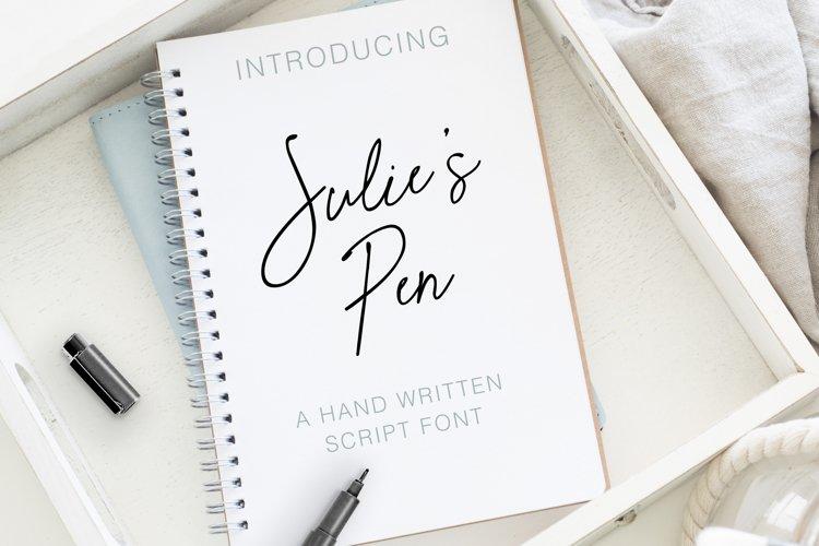 Julie's Pen a Hand Written Script Elegant Font example image 1