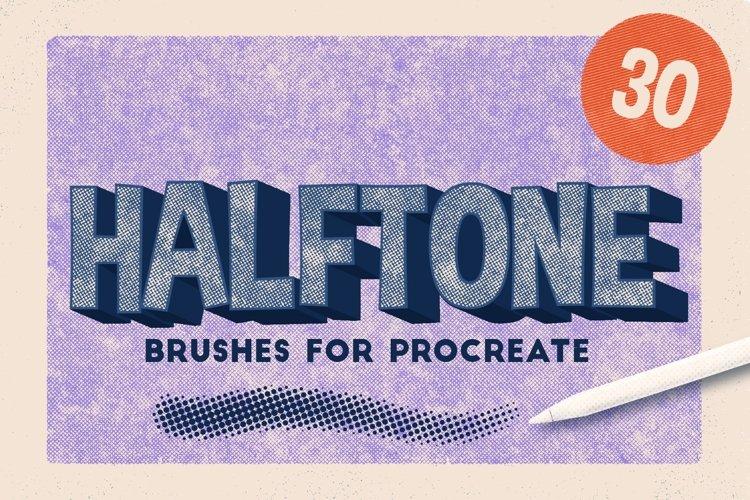 Procreate Halftone Brushes example image 1