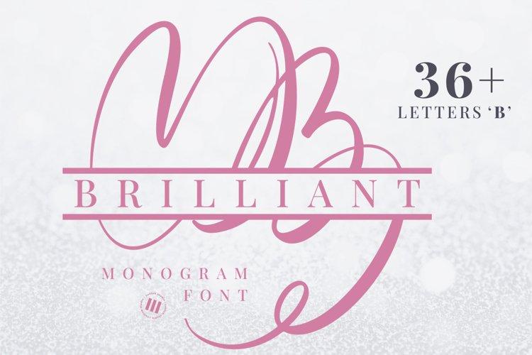 Brilliant Monogram Font example image 1