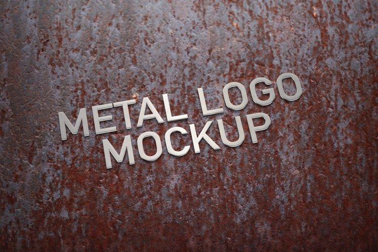 Metal Logo Mockup example image 1