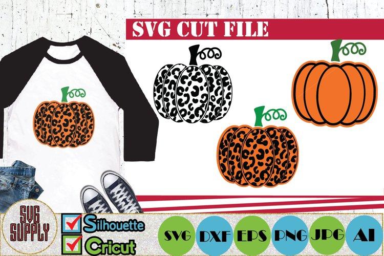 Pumpkin Leopard SVG Cut File