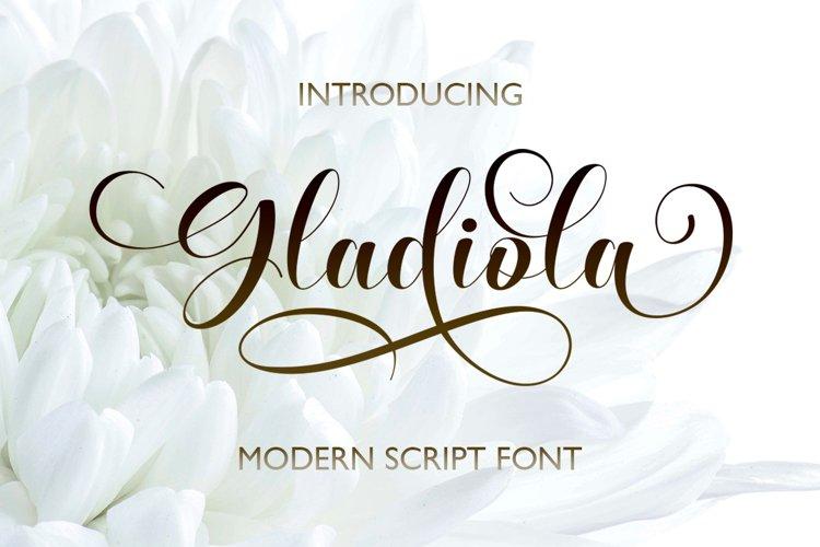 Gladiola Script example image 1