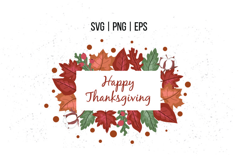 Happy Thanksgiving SVG Frame, Border, Wreath example image 1
