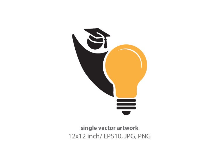 student light bulb, vector example image 1