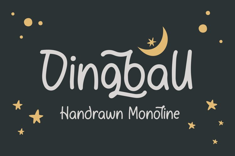 Dingball - Handrawn Monoline Font example image 1