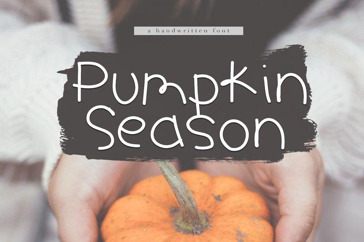 Pumpkin Season - A Cute Handwritten Font example image 1