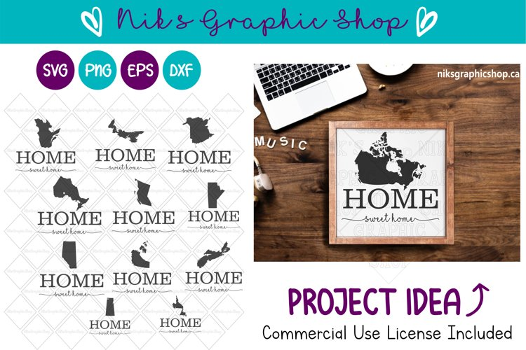 Home Svg, Canada Svg, Canadian Silhouette Svg, Home Sign example image 1