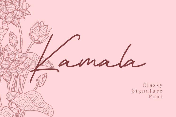 Kamala - Classy Signature Font example image 1