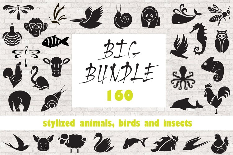 Logo animals, birds and insects. example image 1
