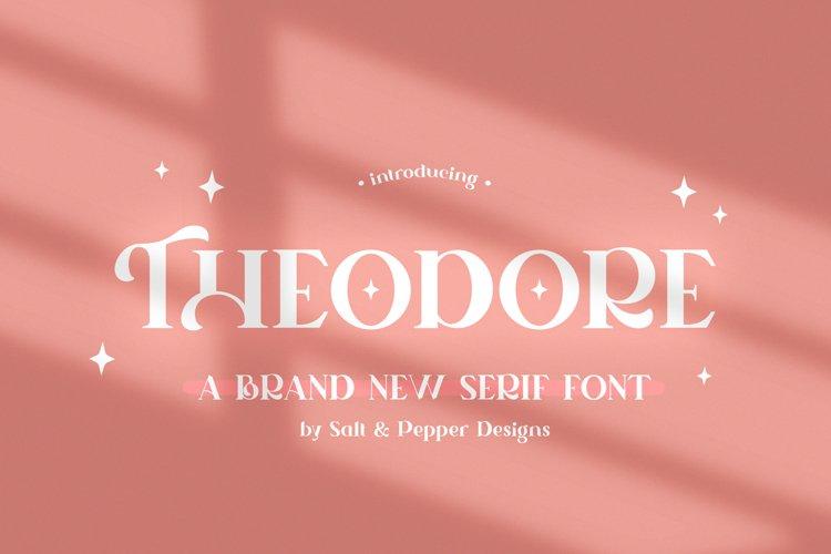 Theodore Serif Font example image 1
