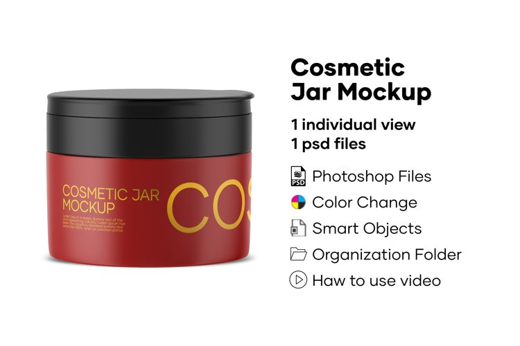 Cosmetic Jar mockup example image 1