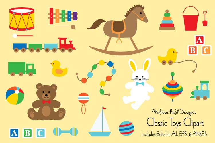 Classic Toys Clipart