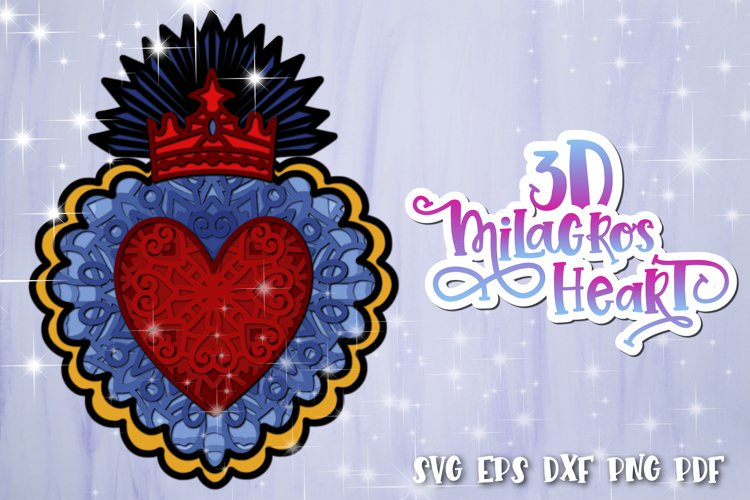 3D Heart svg Layered Milagros hearts 01 SVG