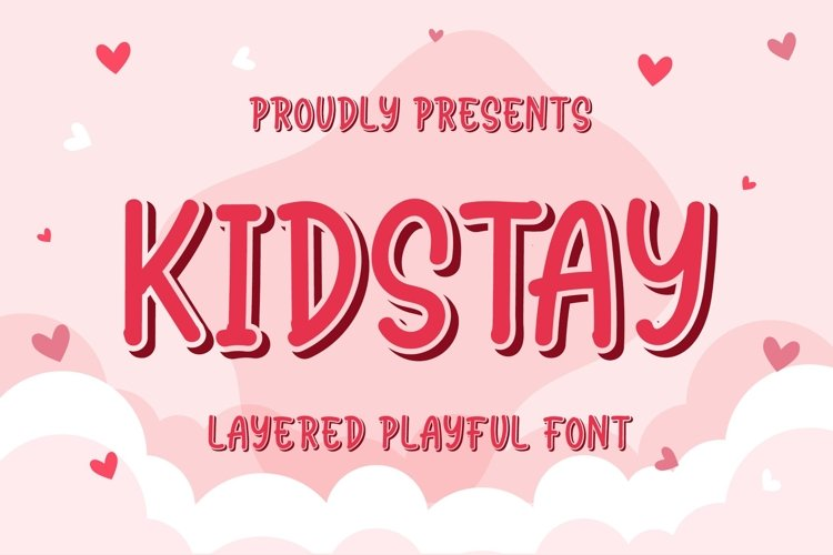 Kidstay - Layered Playful Font example image 1
