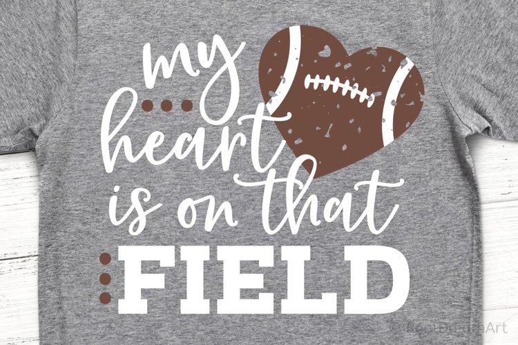 My Heart is on that Field SVG, DXF, PNG, EPS example image 1