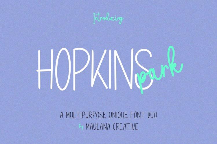 Hopkins Park Multipurpose Unique Font Duo example image 1