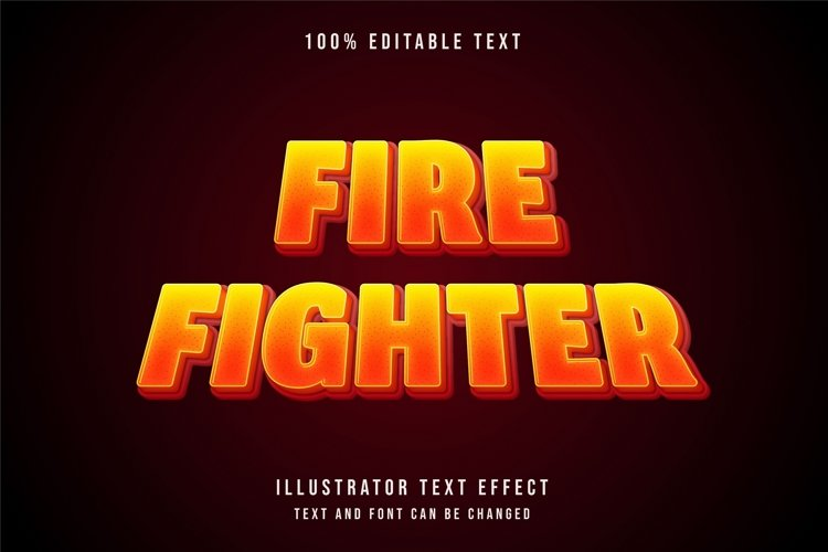 Fire fighter - Text Effect example image 1