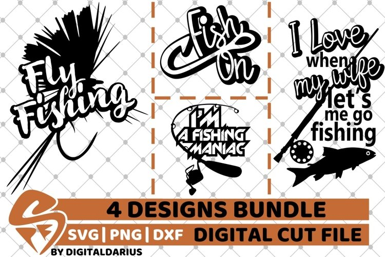 Download 4x Fish Quote Designs Bundle Svg Fly Fishing Carp Svg Rod 531077 Cut Files Design Bundles