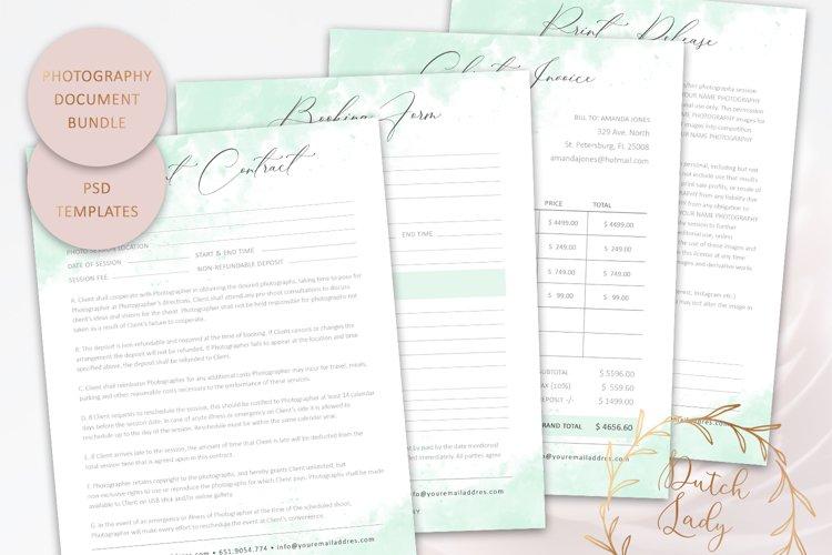 PSD Photography Document & Form Template Bundle #3