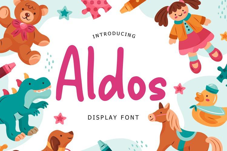Aldos Display Font example image 1