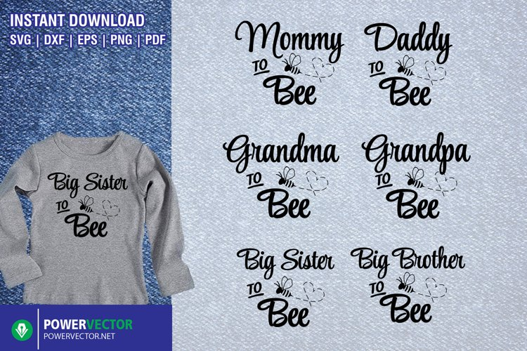 Bee Family SVG| Pregnancy Announcement | New Baby Cut Files