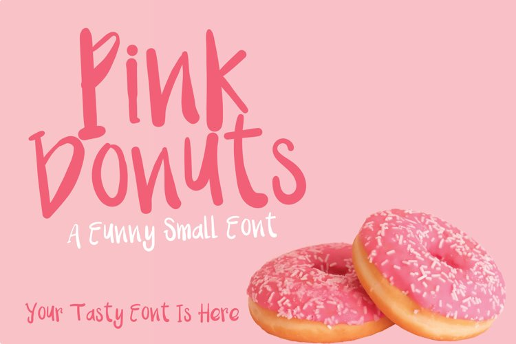 Pink Donuts - Hand drawn Cute Font example image 1