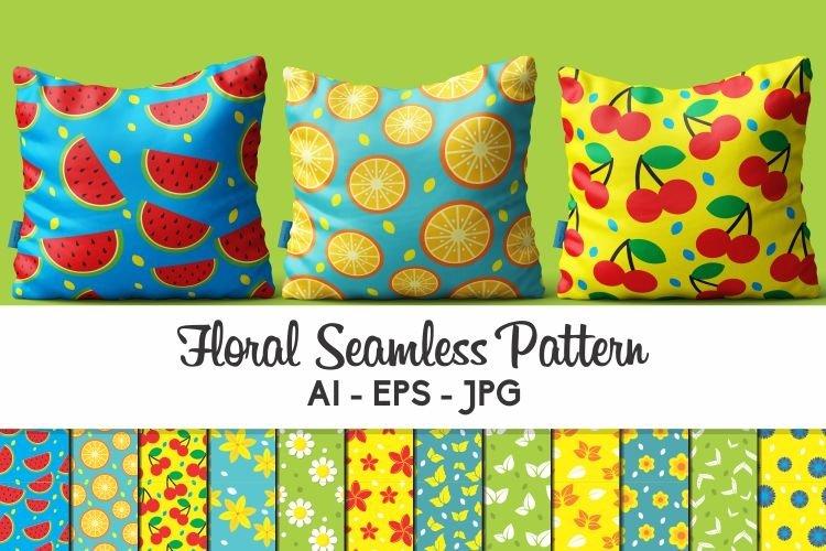 12 Floral Seamless Pattern