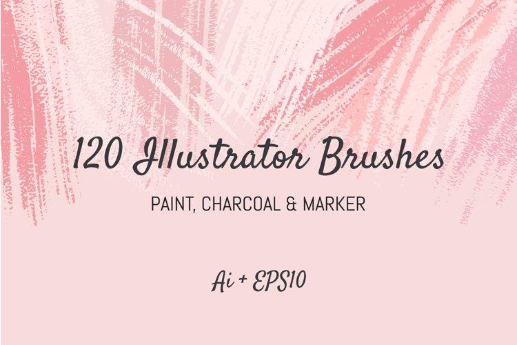 120 Illustrator Brushes example image 1