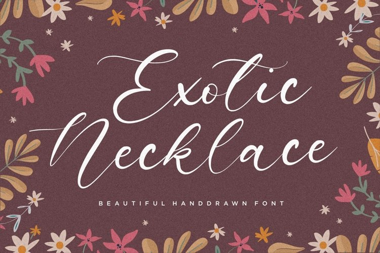 Exotic Necklace Beautiful Handdrawn Font example image 1