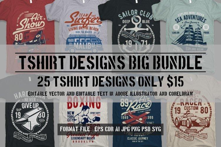 25 Premium Tshirt Designs Big Bundle 7