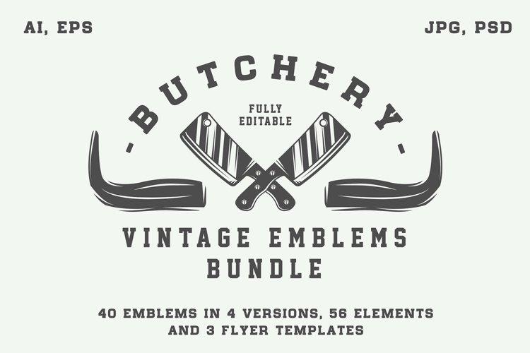 Vintage butchery emblems example image 1