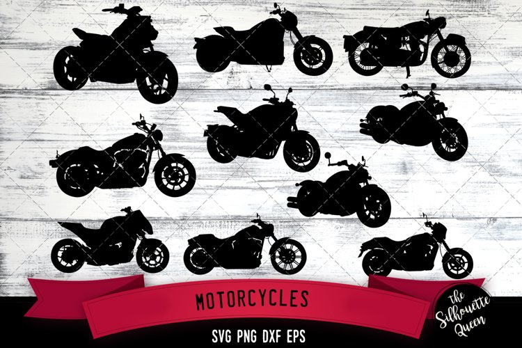 Motorcycle svg file, motorbike svg cut file