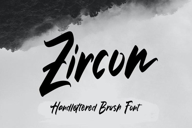 Zircon - Handlettered Brush Font example image 1