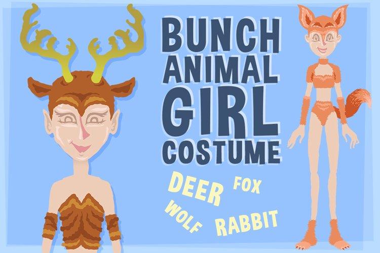 Bunch Animal Girl Costume