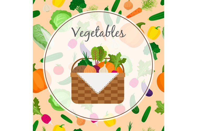 A basket full of fresh vegetables example image 1