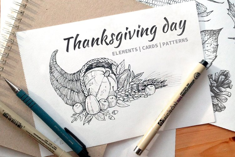 Thanksgiving Day. Autumn collection example image 1