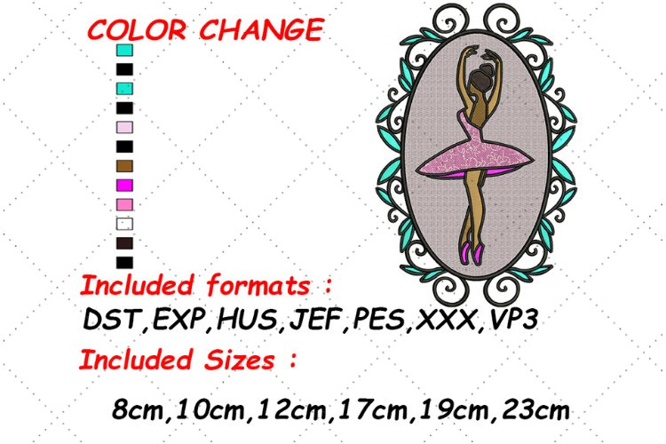 Ballerina Embroidery, Ballet Girl, Embroidery Patterns
