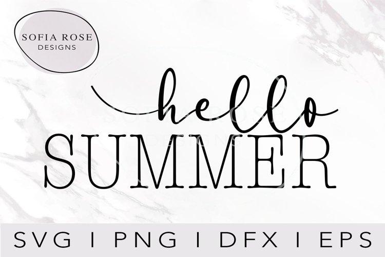 hello SUMMER SVG-SUMMER SVG-Hello SVG-Seasons SVG-Clip Art example image 1