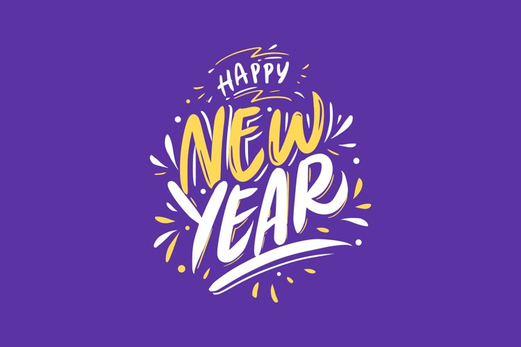 New Year Card Lettering example image 1