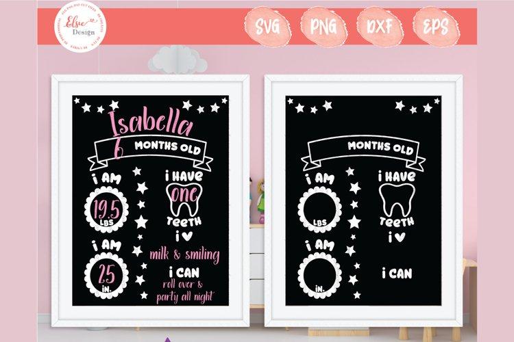 Baby Milestone Chalkboard SVG Cut Files