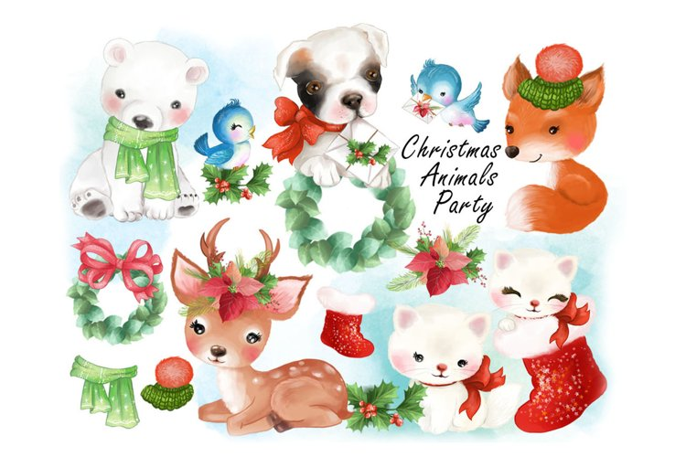 Christmas Animals Party clipat. example image 1