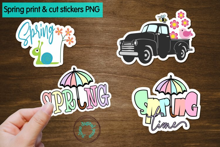 Spring Time Printable Stickers