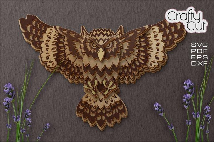 Multilayer Owl SVG, Owl Laser Cut Files